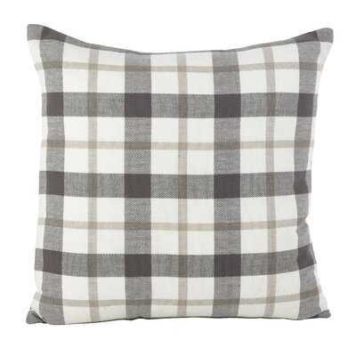 Tywonne Cotton Down Plaid Throw Pillow - Birch Lane