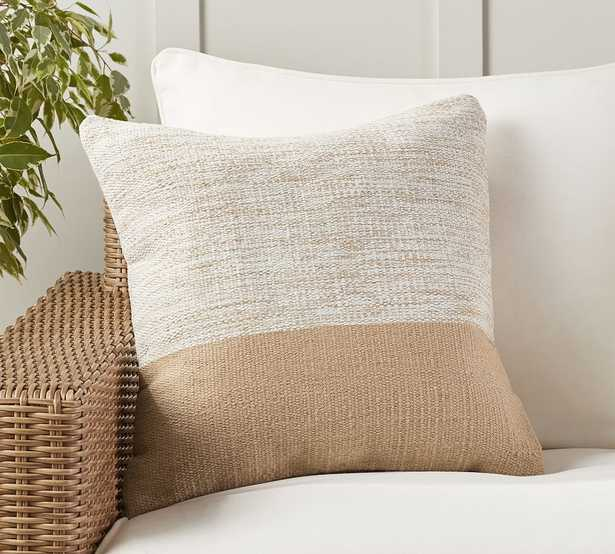 """Dylan Eco-Friendly Textured Indoor/Outdoor Pillow, 20 x 20"""", Neutral - Pottery Barn"""