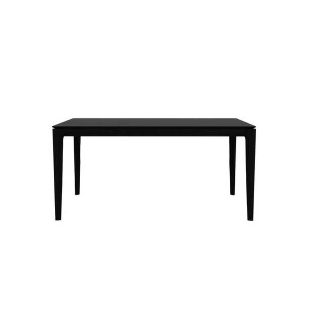 """Ethnicraft Bok Solid Wood Dining Table Color: Black, Size: 30"""" H x 63"""" L x 32"""" W - Perigold"""