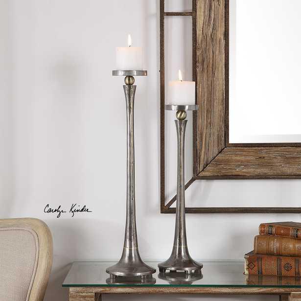 Aliso Cast Iron Candleholders Set/2 - Hudsonhill Foundry
