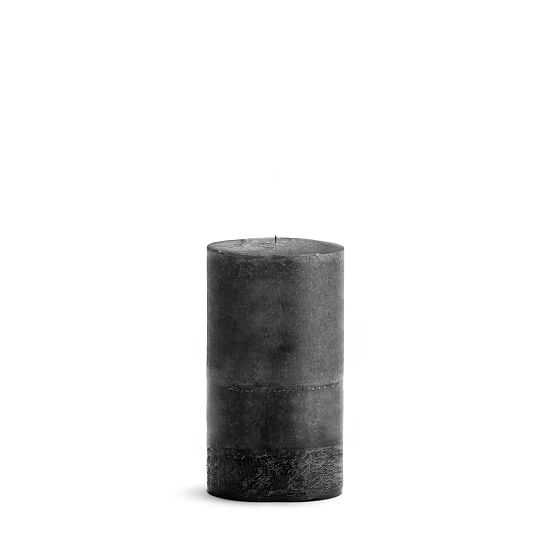 "Pillar Candle, Wax, Black Bamboo, 4""x8"" - West Elm"