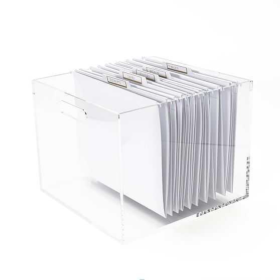 Acrylic File Box - West Elm