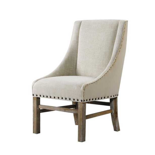 Curations Limited New Trestle Dining Chair Upholstery Color: Sand - Perigold