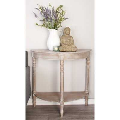 Aphrodite Wood Half Round Console Table - Birch Lane
