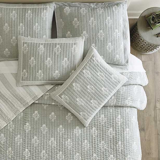 Amaya Block Print Quilt Spa Twin - Ballard Designs - Ballard Designs
