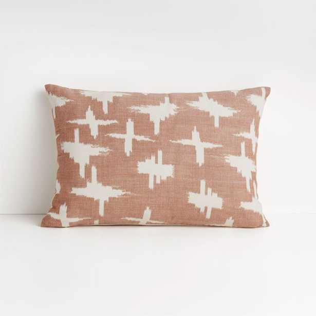 """Sirocco 22""""x15"""" Baked Clay Pillow with Down-Alternative Insert - Crate and Barrel"""