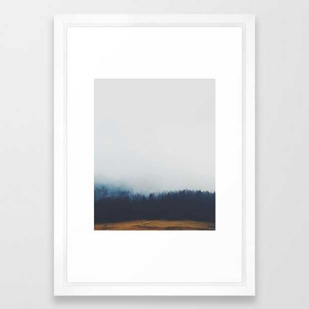 *frozen In Time* #society6 Framed Art Print by 83 Orangesa(r) Art Shop - Vector White - SMALL-15x21 - Society6