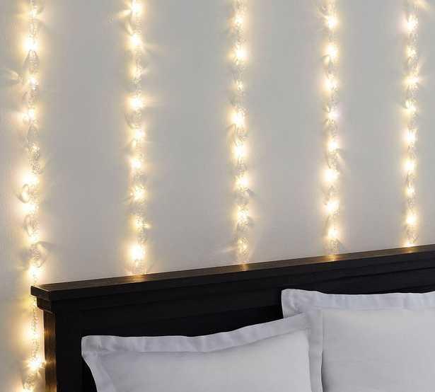 Crystal Rain String Lights, White, 6' x 6' - Pottery Barn