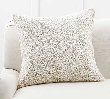 """Hattie Textured Pillow Cover, 24"""", Flax - Pottery Barn"""