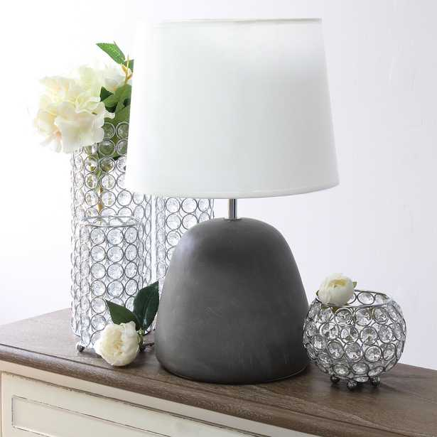 """Simple Designs 16 1/2""""H White Shade Gray Accent Table Lamp - Style # 89E00 - Lamps Plus"""
