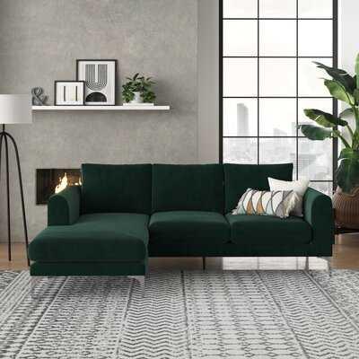 "Caddington 88"" Velvet Reversible Sofa & Chaise - Wayfair"