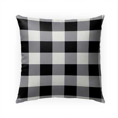 Jagoda Cotton Indoor / Outdoor Checkered Pillow - Wayfair