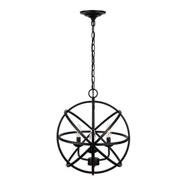 Home Decorators Collection Sarolta Sands 3-Light Black Chandelier - Home Depot