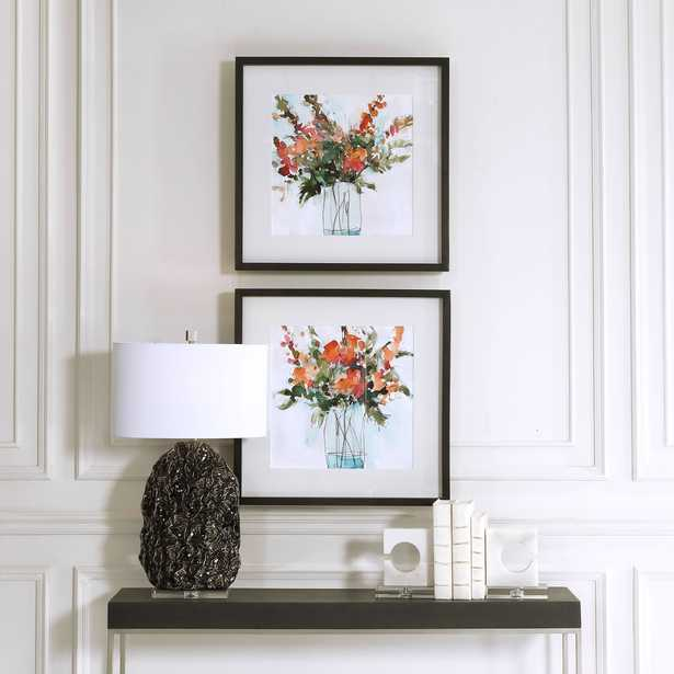 Fresh Flowers Watercolor Prints, S/2 - Hudsonhill Foundry