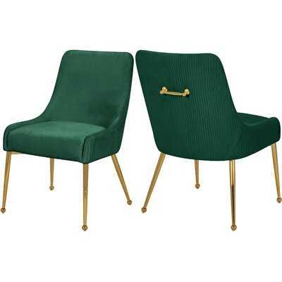 Clybourn Velvet Steel Side Chair - Wayfair