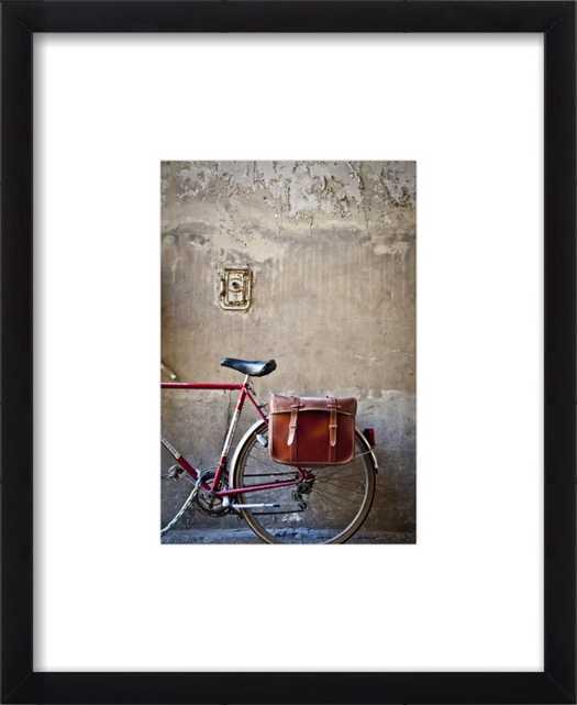 Parisian Red Bicycle by Sivan Askayo for Artfully Walls - Artfully Walls