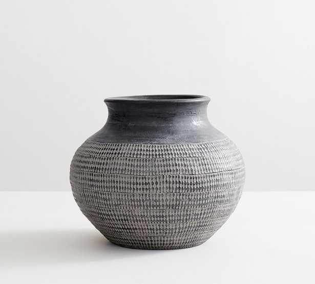 Frasier Textured Ceramics, Tall, Black - Pottery Barn