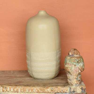Armanni Beige Ceramic Table Vase - Wayfair