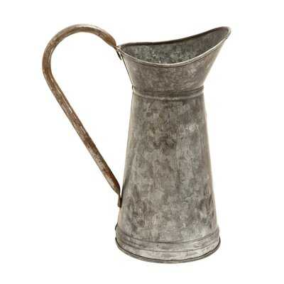 """Terrey Gray 12"""" Indoor / Outdoor Metal Table Vase - Wayfair"""