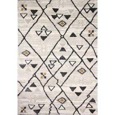 Yonkers Geometric Beige/Black Area Rug - Wayfair
