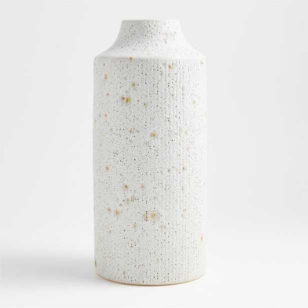 Ema Ceramic White Floor Vase - Crate and Barrel