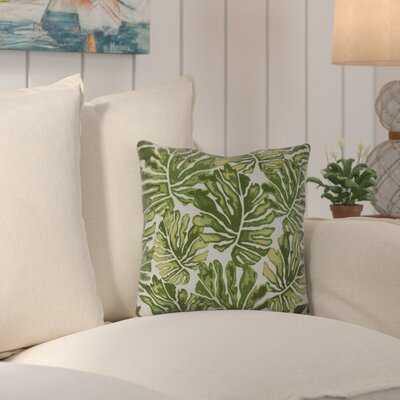 Palm Leaves Outdoor Square Pillow Cover & Insert - Wayfair