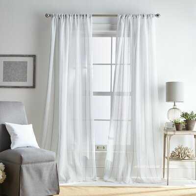 Hampton Striped Sheer Single Curtain Panel - AllModern