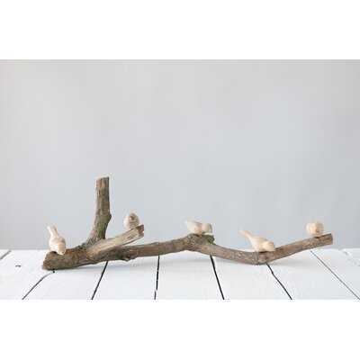 Guidry Driftwood Branch with Hand-Carved Mango Wood Birds - Wayfair