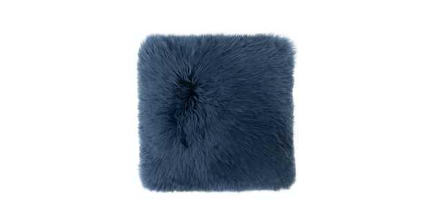 Lanna Navy Sheepskin Pillow - Article