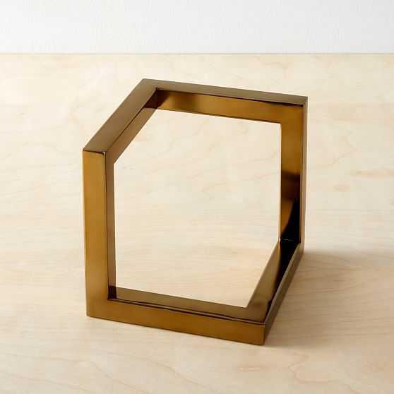 Cast Metal Cube Object, Large-Individual - West Elm