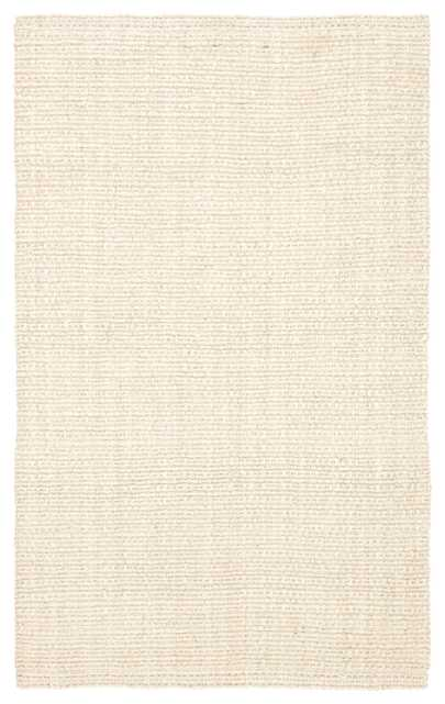 Tyne Natural Solid Ivory Area Rug (9'X12') - Collective Weavers