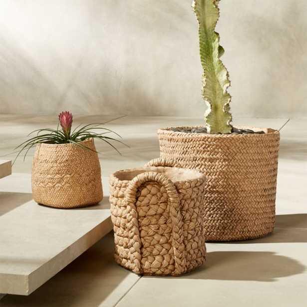 Cement Basket Planter Set - CB2