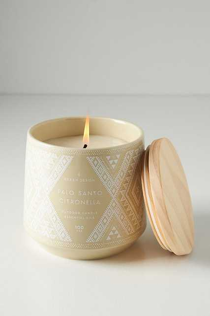 Palo Santo Citronella Candle By Skeem in Beige - Anthropologie