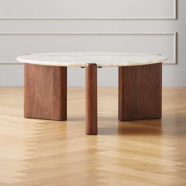 Santoro White Quartz Coffee Table - CB2