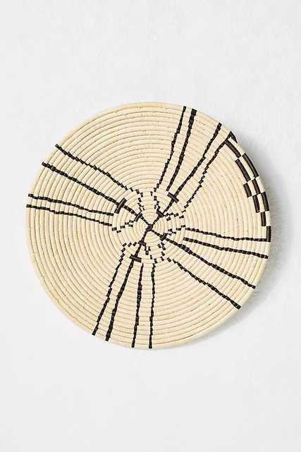 Sanaa Raffia Hanging Basket, Wall Decor - Anthropologie