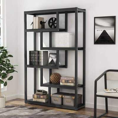 """Thorbiorn 70"""" H x 36"""" W Steel Etagere Bookcase - Wayfair"""