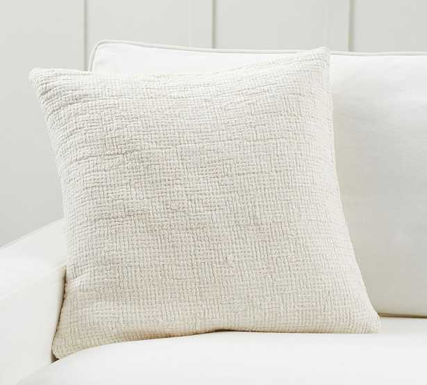 """Ivy Linen Textured Pillow Cover, 22 x 22"""", Ivory - Pottery Barn"""