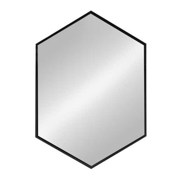 McNeer Hexagon Black Mirror - Home Depot