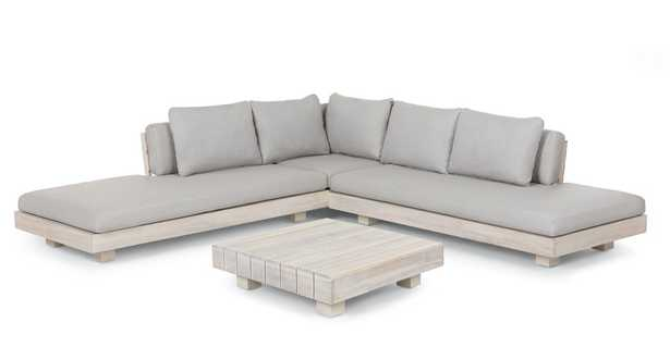 Lubek Beach Sand Sectional Set - Article