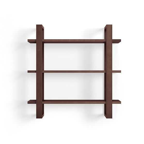 "Index Wall Shelf, 32""x32"", Walnut, Individual - West Elm"