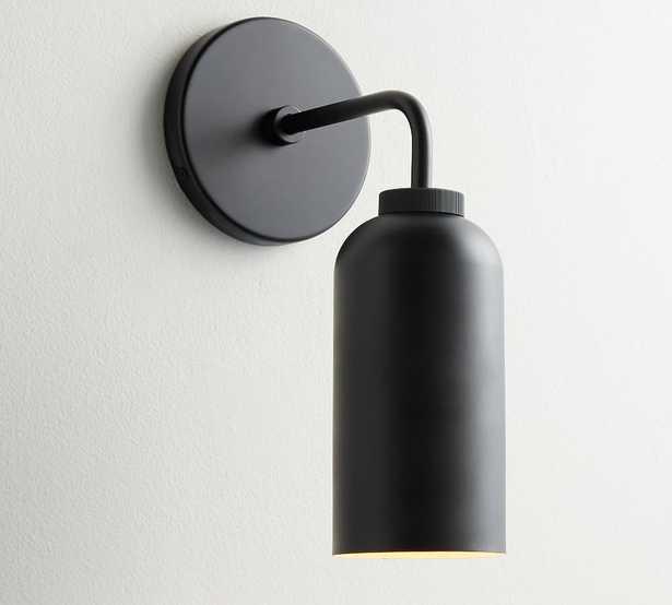 Matte Black Walker Cylinder Single Sconce - Pottery Barn