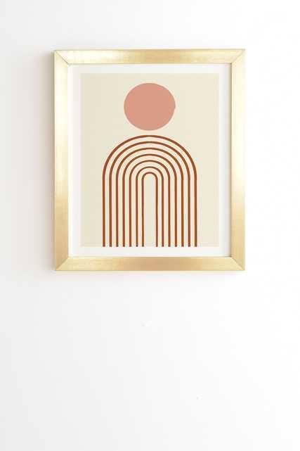 "Full Moon Rainbow by Grace - Framed Wall Art Basic Gold 20"" x 20"" - Wander Print Co."