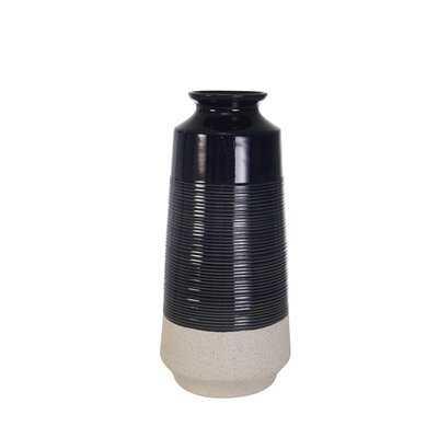 Rubino Dark Blue Indoor / Outdoor Ceramic Table vase - AllModern
