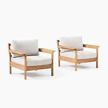 Playa Outdoor Lounge Chairs, Set of 2 - West Elm
