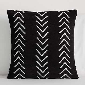 """Arrow Pillow Cover, 18""""x18"""", Black + White - West Elm"""