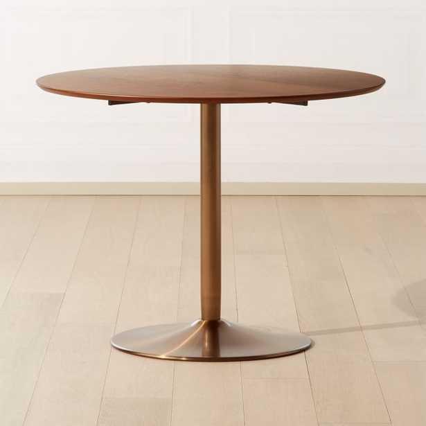 Odyssey Brass/Wood Dining Table - CB2