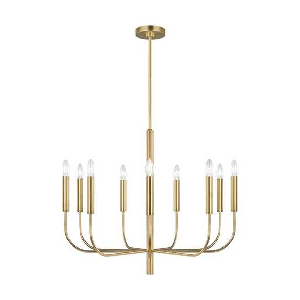 Brianna 9-Light Candle Style Classic / Traditional Chandelier Finish: Burnished Brass - Perigold