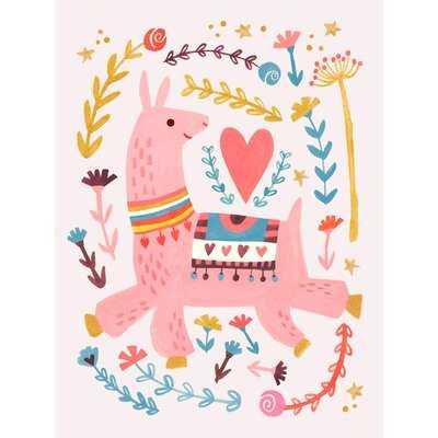 Pink Llama Canvas Art - Birch Lane