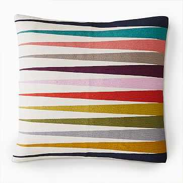 """Margo Selby Spliced Lines Pillow Cover, 20""""x20"""", Multi - West Elm"""