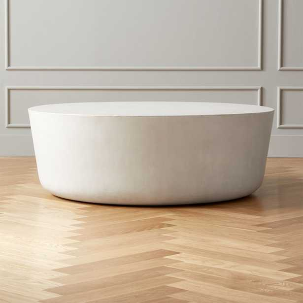 Cap Ivory Cement Large Coffee Table - CB2